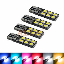 4x T10 168 12256 Canbus LED Bulbs 2835 12-SMD Wedge Dome/Map/Roof/Trunk Light