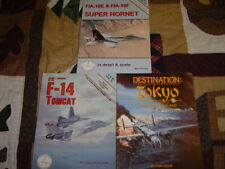 Lot of 3 books in detail/scale F-18 E/F Hornet, F-14 Tomcat, Destination Tokyo