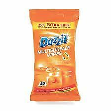 Duzzit Multisurface Wipe 50 Cleanware Orange Oil Kitchen Bathroom Furniture Home