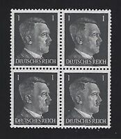 MNH stamp block / 1941 Adolph Hitler PF01 / Original Third Reich Germany Block