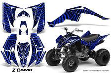 YAMAHA RAPTOR 350 GRAPHICS KIT CREATORX DECALS STICKERS Z CAMO BL