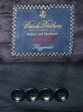 Mens 44 L Brooks Brothers 1818 Fitzgerald x Saxxon Navy Blue Tonal Wool Suit