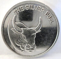 THE SILVER BULL OLD VINTAGE .999 FINE SILVER 1 TROY OZ ART ROUND