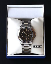 SEIKO Watch/ Men's Titanium Kinetic 5M62-OBAO
