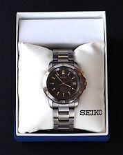 SEIKO Watch/ Men's Titanium Kinetic 5M62-OBAO