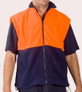 Adults Hi Vis Polar Fleece Vest Size Small  - FREE POSTAGE