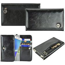 Smart Phone Phablet Luxury Flip Wallet Leather Design Pouch Purse Case Cover