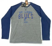 Adidas NHL St. Louis Blues CCM Longsleeve Crew neck ASLB6M Gray/Blue Mens Sz Lrg