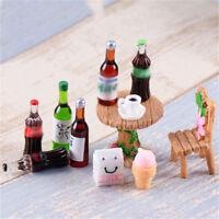 5X Mini Beer Drinks Milks Dollhouse Miniature Play Food for Doll  SL