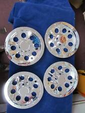 GOLF CART Hub Cap 8 Inch set of 4 Chrome Tire Bead Lock Wheel Style   # HC4