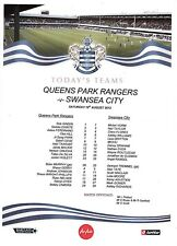 Teamsheet - Queens Park Rangers v Swansea City 2012/13