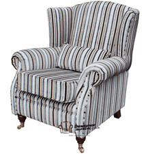 Ashley Wing Chair Fireside High Back Armchair Riga Natural Stripe