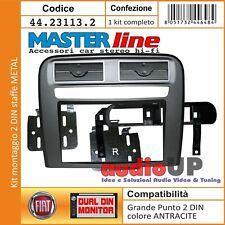 MASCHERINA RADIO 2 DIN FIAT GRANDE PUNTO KIT MONTAGGIO PERFECT FICT ANTRACITE
