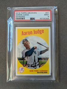 2018 Topps Archives AARON JUDGE # 31 SP Photo Variations PSA 9