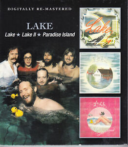 LAKE lake/lake II/paradise island (3on2) Slipcased 2CD NEU/OVP Sealed