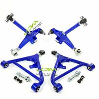 240SX S13 S14 180SX 300ZX Front+Rear Lower Control Arm Adjustable SR20DET BLUE