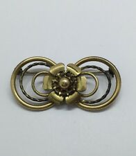Vintage LSCO Gold Filled Flower Brooch Yellow Gold Petal Prong No Stones