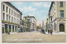 USA postcard - Jefferson Avenue North in 1908, Battle Creek, Mich