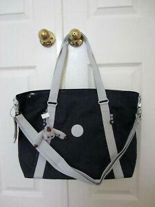 "Kipling KI1060 Skyler 19"" Shoulder Crossbody Carry on Handbag Blue Modern $139"
