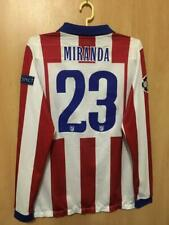 62d2465cd ATLETICO MADRID 2014 2015 MATCH WORN HOME FOOTBALL SHIRT JERSEY CL MIRANDA   23