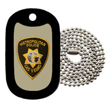 Military Dog Tag -Las Vegas Police Patch - NECKLACE - Tag-Z Dog Tags