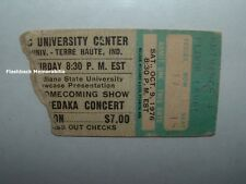 NEIL SEDAKA Concert Ticket Stub 1976 HULMAN CENTER ISU TERRE HAUTE Very Rare