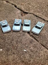 VINTAGE 4 PIECE AURORA AFX SLOT CAR BODY GROUP / BLUE TAXI CAB / NEW OLD STOCK!!