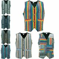 Waistcoat Vest Mens Cotton Brushed Hippie Boho Suit Men Ladies