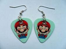 Cute Super Mario Guitar Pick // Plectrum  Earrings
