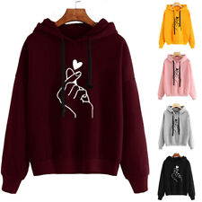 Women's Hoodies Long Sleeve Sweatshirt Pullover Ladies Winter Jumper Tops Coat