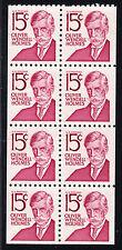 Sc# 1288Bc 15 Cent Oliver Wendell Holmes (1968)MNH Folded BP/8 w/o tab SCV $2.80