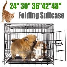 """24"""" 30"""" 36"""" 42"""" 48"""" métallique Cage boite de transport pour chien pliable Cages"""