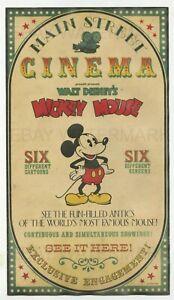 1969 Disneyland Main Street Cinema vintage poster, Mickey Mouse