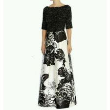 Coast Limited Edition white black floral Wedding ball gown skirt 4 34 bridesmaid