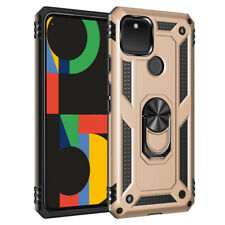 For Google Pixel 5 4A 5G 4 XL Luxury Hybrid Magnetic Hard Armor Stand Cover Case