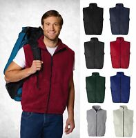 SIERRA PACIFIC Premium Men's Full-Zip Anti-Pill Fleece Vest 3010 S-6XL New!!