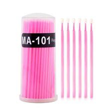 100Pcs Mini Eyelash Cotton Swab Bendable Makeup Micro Applicator Brush Stick 5F