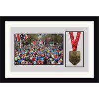 "Ironman Triathlon Marathon Running Medal Photo Frames 8"" X 6"" | White Mount"