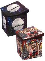 Fibre Optic Christmas Canvas Storage Box Light Up Xmas Eve Festive Decoration