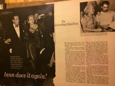 Lana Turner, Three Page Vintage Clipping