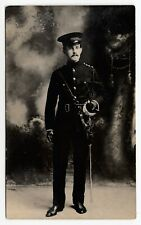 Canadian Militia Officer somewhere in Canada 1907-10 Real Photo Postcard
