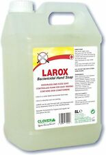 Clover Larox 5Ltr Anti-Bac Hand Soap Wash Bactericidal Liquid Luxury Soap Bulk