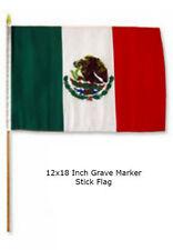 "12x18 12""x18""  Mexico Mexican Hispanic Grave Marker Stick Flag"
