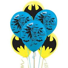 "6 x BATMAN Superhero Printed Latex Balloons 12"" Birthday Party Decoration"