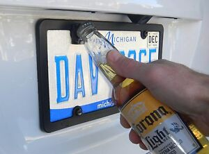 Rear License Plate Mounted Bottle Opener Accessory for Dodge RAM Models