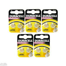 10x Duracell LR44 Alkaline 1.5V Coin Watch Batteries A76