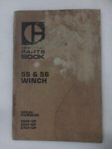Caterpillar 55 & 56 Winch parts manual. Genuine Cat book. D5 &D6 winch.
