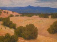Southwest Santa Fe Taos New Mexico Art Oil Painting Landscape Desert Mountains