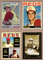 PETE ROSE LOT OF 4: ROOKIE YEAR/CLASSIC SERIES/PRIVATE STOCK/WITH HARPER