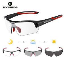 ROCKBROS Cycling Photochromic Clear Glasses Goggles Sunglasses Myopia Frame Red